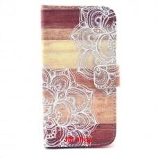 LG G3S kožený obal Flower Design