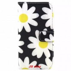 Samsung Galaxy S6 Edge kožený obal Black Flower