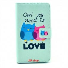 Sony Xperia SP kožený obal Loving Owls