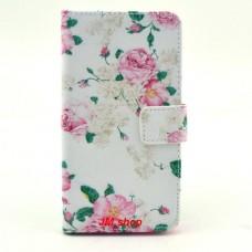 Samsung Galaxy Alpha kožený obal Penoy Flower