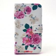 LG L90 kožený obal Penoy Flower
