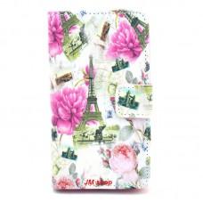 Nokia Lumia 520, 525 kožený obal Eiffel Tower And Flowers