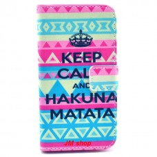 LG G2 Mini kožený obal Keep Calm Matata
