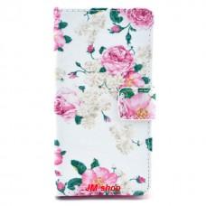 Nokia Lumia 630, 635 kožený obal Flower