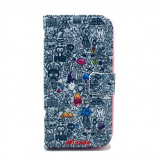 Samsung Galaxy S4 i9500 kožený obal Cartoon World