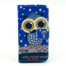 iPhone 4/ 4S kožený obal Blue Owl