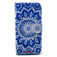 Samsung Galaxy S5 Mini kožený obal Blue Star