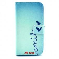 Samsung Galaxy Alpha kožený obal Smile
