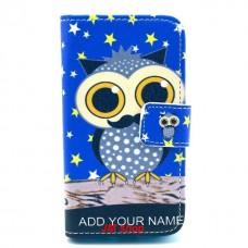 Samsung Galaxy Ace 2 kožený obal Blue Owl