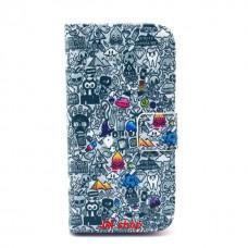 Samsung Galaxy S4 Mini kožený obal Cartoon World
