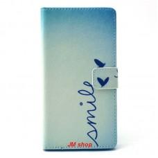 Sony Xperia T3 kožený obal Smile