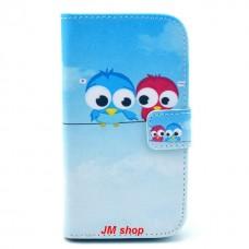 iPhone 5C kožený obal Birds
