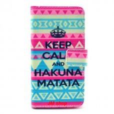 Samsung Galaxy Alpha kožený obal Hakuna Matata