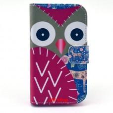 Motorola Moto E kožený obal Red Owls