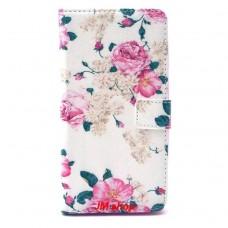 Alcatel OneTouch POP C9 kožený obal Penoy Flower