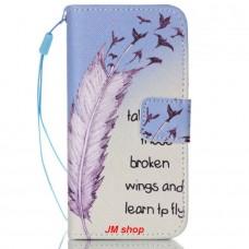 iPhone 5C kožený obal Broken Wings