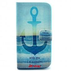 LG G2 kožený obal Blue Anchor