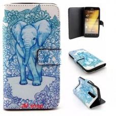 Asus Zenfone 2 kožený obal Elephant
