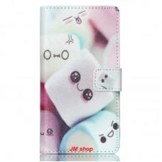 Sony Xperia M4 Aqua kožený obal Marshmallow