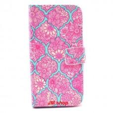LG G3S kožený obal Pink Flower