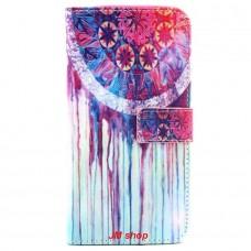 Samsung Galaxy S6 Edge Plus kožený obal Colorful Dream Catcher