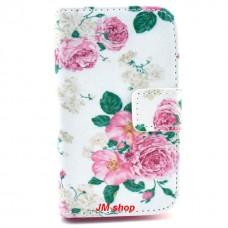 Samsung Galaxy Fame kožený obal Peony Flower