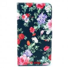 Samsung Galaxy Note 3 kožený obal Black Flower