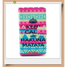 Nokia Lumia 520, 525 kožený obal Keep Calm Matata