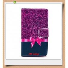 Nokia Lumia 520, 525 kožený obal Leopard Bow