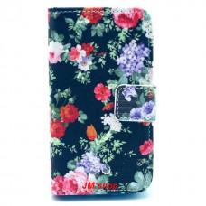 Samsung Galaxy Ace 2 kožený obal Black Flower
