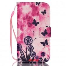 Samsung Galaxy S4 Mini kožený obal Butterfly Dandelions