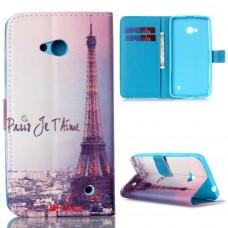 Microsoft Lumia 640 kožený obal Eiffel Tower