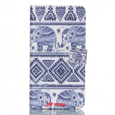 Samsung Galaxy S6 Edge Plus kožený obal Blue Elephant