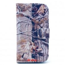 HTC Desire 500 kožený obal Gray Dry