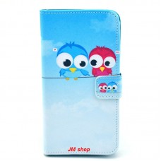 Samsung Galaxy S5 Mini kožený obal Birds