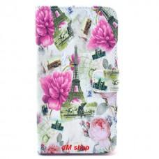 Samsung Galaxy Note 3 kožený obal Eiffel Tower and Flower