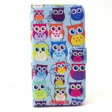 Samsung Galaxy S6 Edge kožený obal Blue Owls