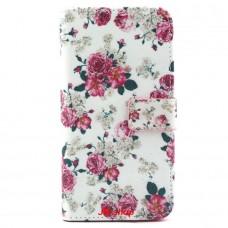 Samsung Galaxy S6 Edge Plus kožený obal Floral