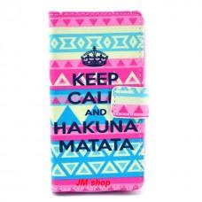 Nokia Lumia 630, 635 kožený obal Keep Calm Matata