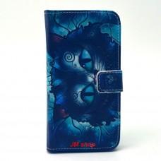 Samsung Galaxy S6 kožený obal Blue Cat