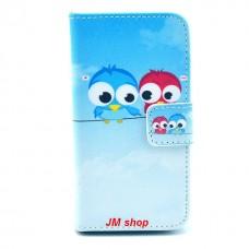 iPhone 4/ 4S kožený obal Birds