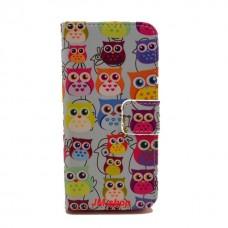 iPhone 5C kožený obal Blue Owls
