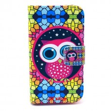 Samsung Galaxy Ace 2 kožený obal Colorful Owl
