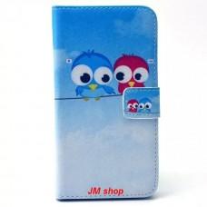Samsung Galaxy S6 kožený obal Birds