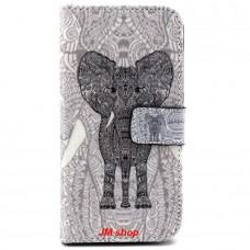 Samsung Galaxy S6 Edge kožený obal Black Elephant