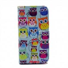 Samsung Galaxy S4 i9500 kožený obal Blue Owls