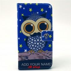 Samsung Galaxy S6 Edge kožený obal Blue Owl