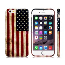 iPhone 6 gumový kryt USA flag