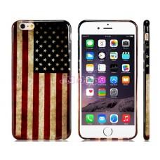 iPhone 6 Plus gumový kryt USA flag