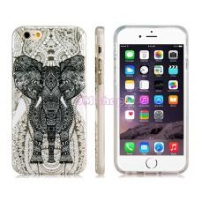 iPhone 6 gumový kryt Black & White Elephant